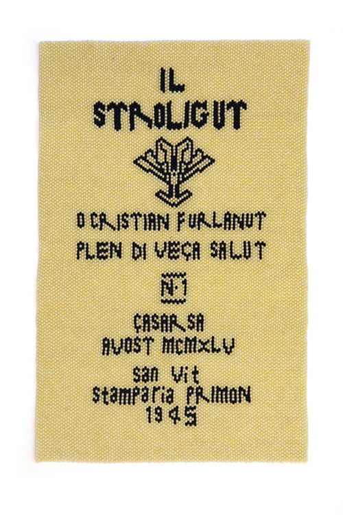 Il Stroligut No. 1, bead knitting, 30 x 19 cm, 2015